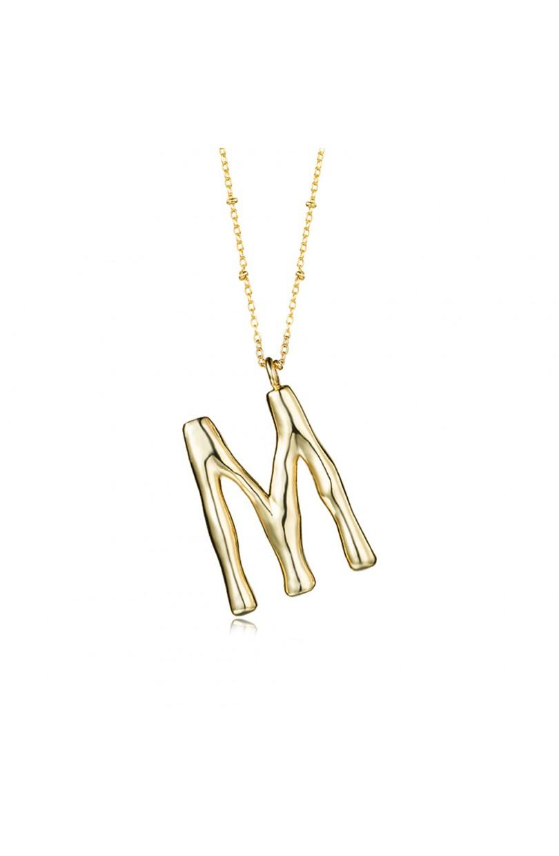 9cf357f683c0 Collar en bronce con letra 36mm M – Joyería acebo – Joyerías en León